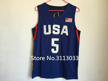 #5 Kevin Durant Team usa Basketball Jersey Embroidery Stitched Custom any Number and name