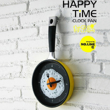 Creative Kitchen Clock Omelette Wall Clock Fry Pan Fried Egg Mini Design Horloge Murale Funny DIYBedroom Living Room Home Decor