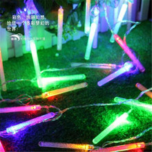 10M 100 LED Icicle Bubble Bar Picks Cone Lamp Strip decorative string light for wedding Christmas party Garland patio decoration
