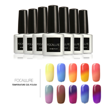 FOCALLURE Temperature Change Color Gel Nail Polish Thermo UV Gel Pick 1Color Gel Varnish Thermo Changing