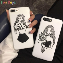 Fun Kays Sexy Cool Girl Flower Harajuku 6 7 Phone Case Punk Streetstyle Soft Protective Shell Cartoon Slim Back Cover Dropship(China)