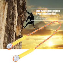 8MM Outdoor Activities Nylon Rock Climbing Rope Abrasion-resistance for Climbing Accessories Rappelling Travel Tools (Orange)