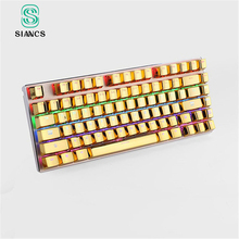 Gamer gaming keycaps 104 standard key Mechanical Keyboard light transmission keycap english version game PC usb keyboard key cap