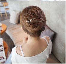 New Bohemia Hairgrip Retro Hair Clasp Alloy Elegant Oval Hair Pins Hair Sticks Combs For Women Hair Accessories