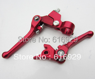CNC ALU MX Dirt Bike/Pit Bike Folding Clutch Brake Lever FOLDABLE CLUTCH LEVER RACING LEVER MOTORCYCLE LEVER