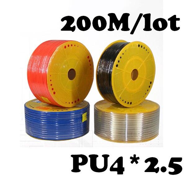 PU4*2.5 200M/lot  Pneumatic parts 4mm PU Pipe for air pneumatic hose 4*2.5 Compressor hose<br>