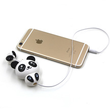 Panda Cat Cartoon retractable earphones for mobile phone computer cartoon in ear headsets Canaltype stereo earphone