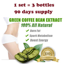 (1 set=3 bottles) Pure green coffee been extracts for weight loss 100% effective 3 months supply slimming fast