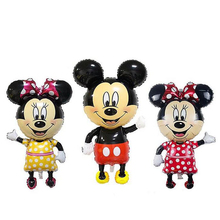 110*63cm Big Minnie and Mickey Balloon Aluminum Foil Balloons Party Decoration Balloons Celebration Supplies(China)