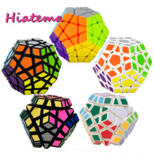 Hiatema Magic Cubes Pentagon 12 Sides Gigaminx PVC Sticker Dodecahedron Toy Puzzle Twist