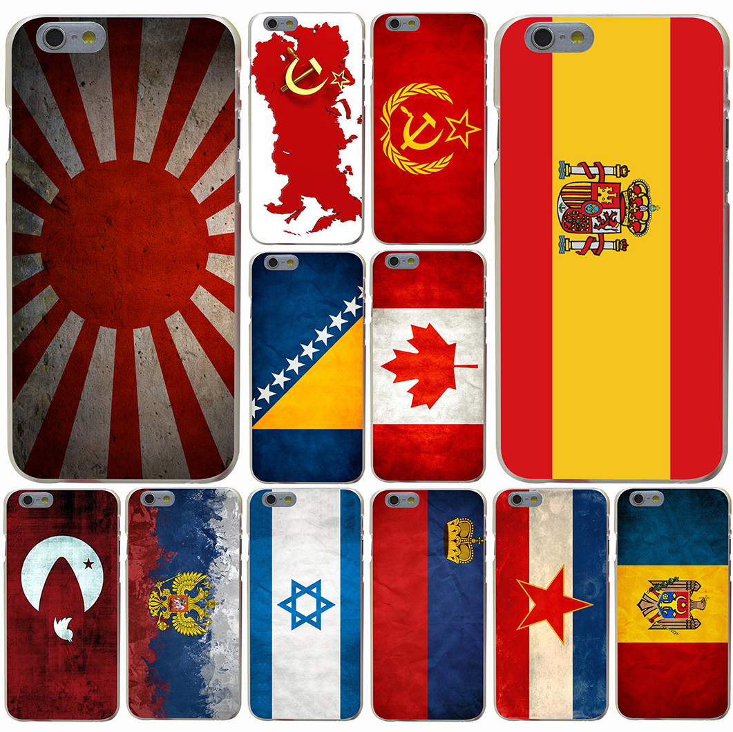 Russian Spain flag Pakistan Canada Israel Hard Transparent Case for iPhone 7 7 Plus 6 6s Plus 5 5S SE 5c 4 4S(China (Mainland))