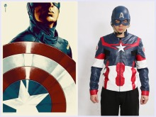 Captain America Jacket Steven Rogers Coat Civil War COSplay Superhero Gents Outer Suit(China)