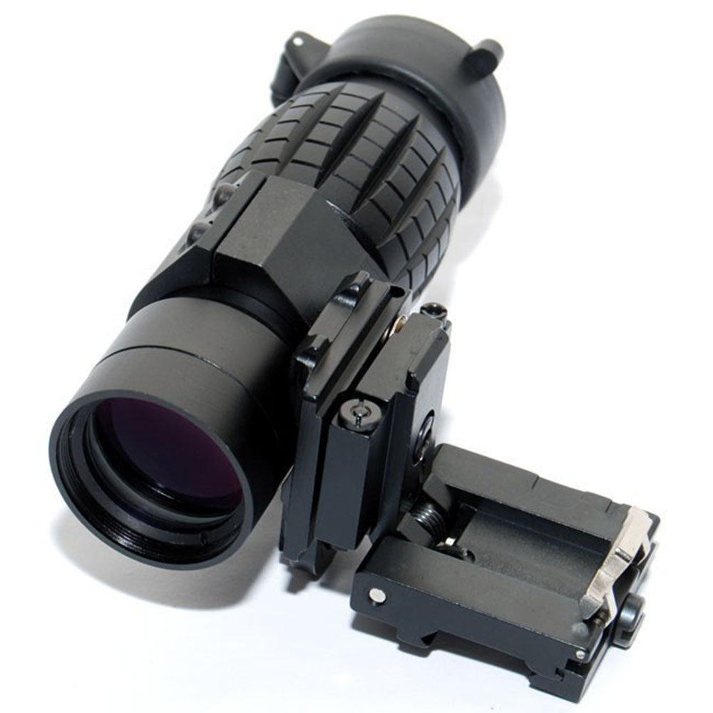 Tactical 3X Magnifier Scope Sight with Flip To Side Mount for 20mm Rail Riflescope Hunting Free Shipping<br>