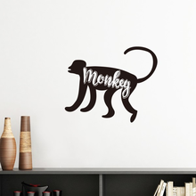 Monkey Black And White Animal Silhouette Removable Wall Sticker Art Decals Mural DIY Wallpaper for Room Decal(China)