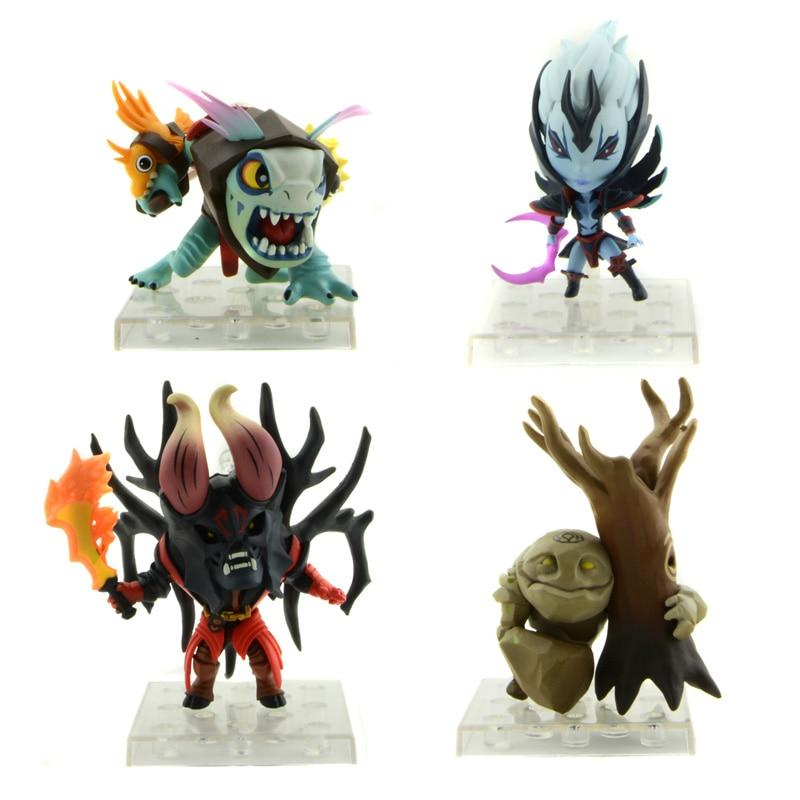 Starz 4Pcs/Set DOTA 2 PVC Model Action Mini Figures Defense of the Ancients Toys 8cm Doom/Nightcrawler/Vengeful Spirit/Tiny<br><br>Aliexpress