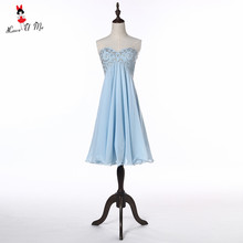 Sky Blue Vintage Homecoming Dresses 2017 Cheap Short Prom Dress Plus Size 8 Grade Graduation Dress Vestido de Formatura Curto(China)