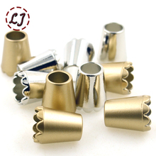 High quality 10pcs/lot gold silver decoration cord end stopper Toggle Clip for Paracord Bag Sports Wear Shoes garment accseeory(China)