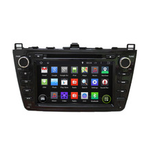 7'' Android 5.1 Auto DVD Player GPS Navigation System for 2008 2009 2010 2011 2012 Mazda 6 with Capacitive Screen,Black