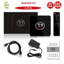 Buy 5PCS/LOT T9 Android TV Box Amlogic S912 Octa Core Android 6.0 Smart TV Box 2GB/16GB WIFI 1000M LAN HDMI H.265 4K Media Player for $275.00 in AliExpress store