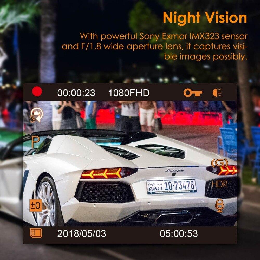 Vantrue T2 Dash Camera NT96655 Video Recorder 160 Degree View Wave Guard Packing Monitor Night Vision G-Sensor Car DVR Camera  (5)