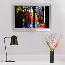 New arrival Custom Aluminum Alloy Painting Frame Home Decor church flower window Canvas Fabric Print Poster Frame H00217-103