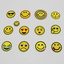 1PCS / lot of cartoon smile laugh tears beads embroidered iron patch clothes hat wall DIY sewing reasons badge bag clothing