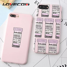 LOVECOM For iPhone 7 7Plus 6 6S Plus Back Chill Pills Pink Candy Color Pattern Soft TPU Anti Shock Mobile Phone Cases