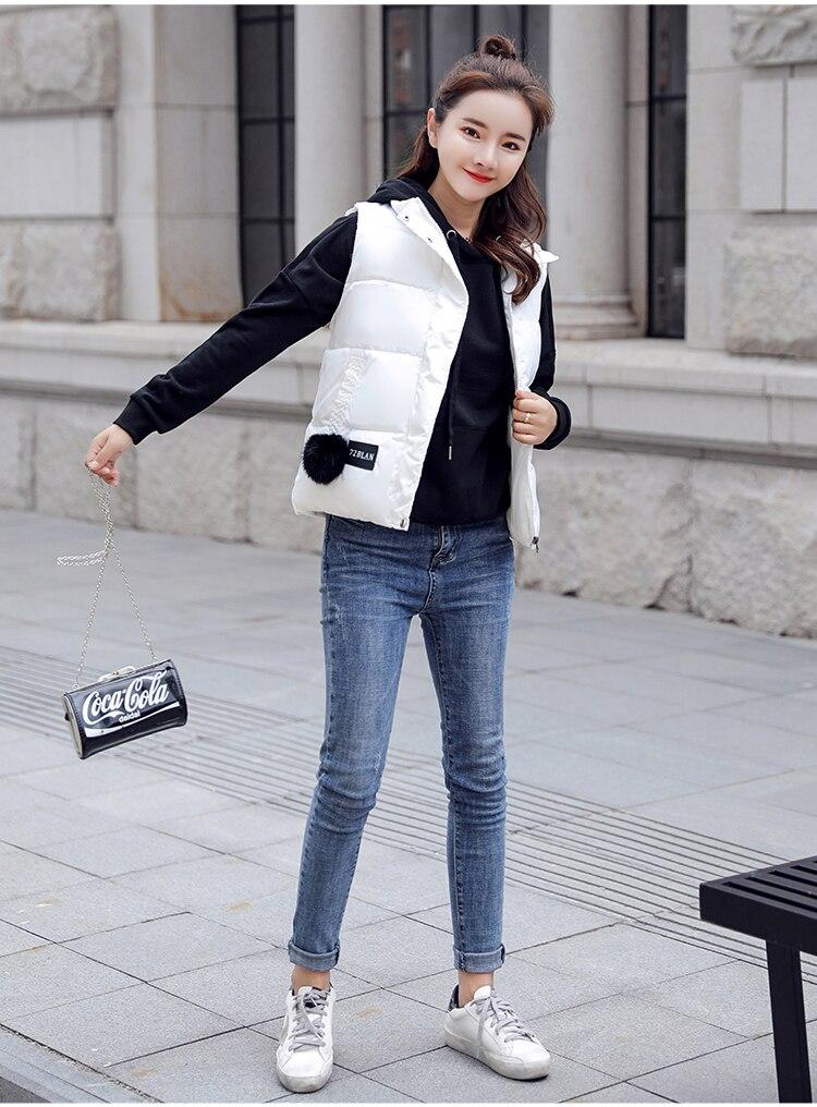 NIJIUDING M-XXXL 2018 New Parka Spring Autumn Slim Velvet Women Vest Jacket Warm Cotton-padded Winter Plus Size Waistcoat female (6)