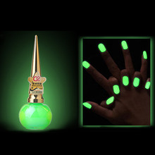Glow in the Dark Paint Nail Polish for Halloween Nail Art Decoration Gel Nail Stamping Fluorescente Luminous Nailpolish Luminous(China)
