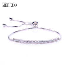 2017 New Tiny Cubic Adjustable Cubic Zirconia Crystal Cake Shape Charms Bracelets for Women Gift BC01