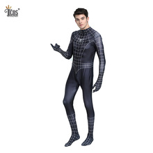 Adult Spiderman Costumes Spider Man Cosplay Costume Venom Suit Spandex Lycra Nylon Zentai Bodysuit Halloween Second Skin Tight