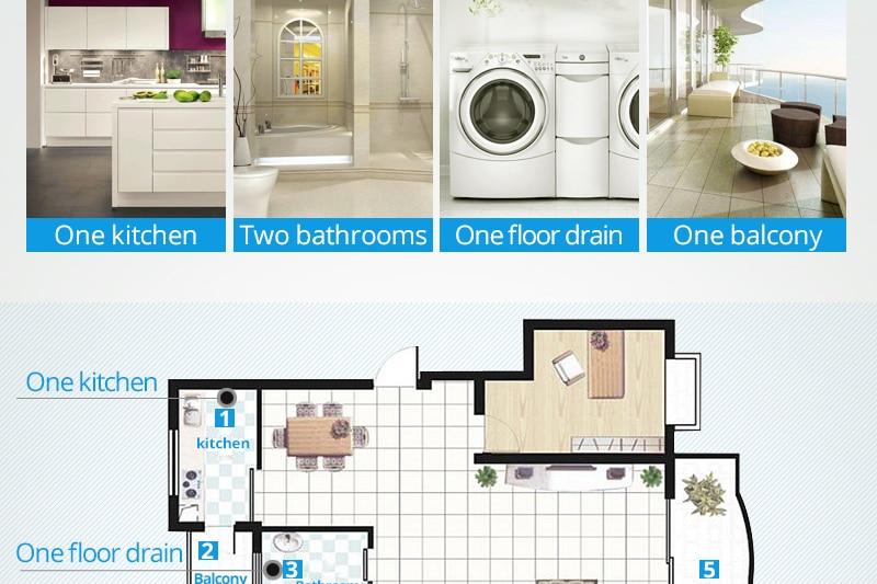 DCAN Brass Drains Drain Strainers Floor Linear Shower Floor Drains Bathroom Shower Drain Cover Kitchen Filter Strainer Drainer (21)