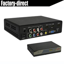 Multi-functional all RCA(CVBS), YPbPr, VGA, HDMI to HDMI converter box up to 4kX2k with USB media function(China)