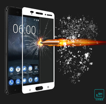 9H Film Tempered Glass For Nokia 2 3 5 6 7 8 Phone Cover Full Cover Screen Protector Film Guard For Oneplus 5T 5 A5000 3 3T(China)