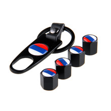 -94% OFF Car Air Valve Caps Stainless Steel Black Country Flag Auto Motorcycle Wheel Airtight Tyre Tire Stem With Keychain(China)