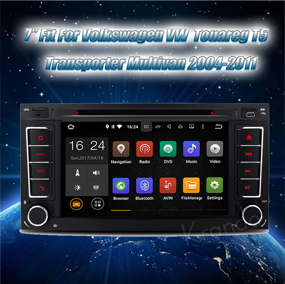 Krando Volkswagen VW Touareg T5 Transporter Multivan 2002-2011 android car radio stereo navigation gps car dvd player multimedia system (5)