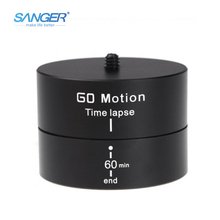 SANGER 360 Rotating Tripod Time Lapse Stabilizer Photography Automatically Rotate Adapter for Xiaomi Yi Gopro Hero Action Camera