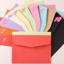 100pcs/lot 125mm*170mm 10 Colors Paper Envelopes Bags Wholesale for Greeting Cards Postcard Invitations Announcements Assorted