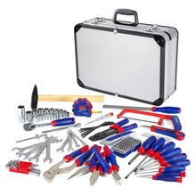 WORKPRO 119-Piece Repair Tool Set Home Tool Kit With Aluminum Case(China)