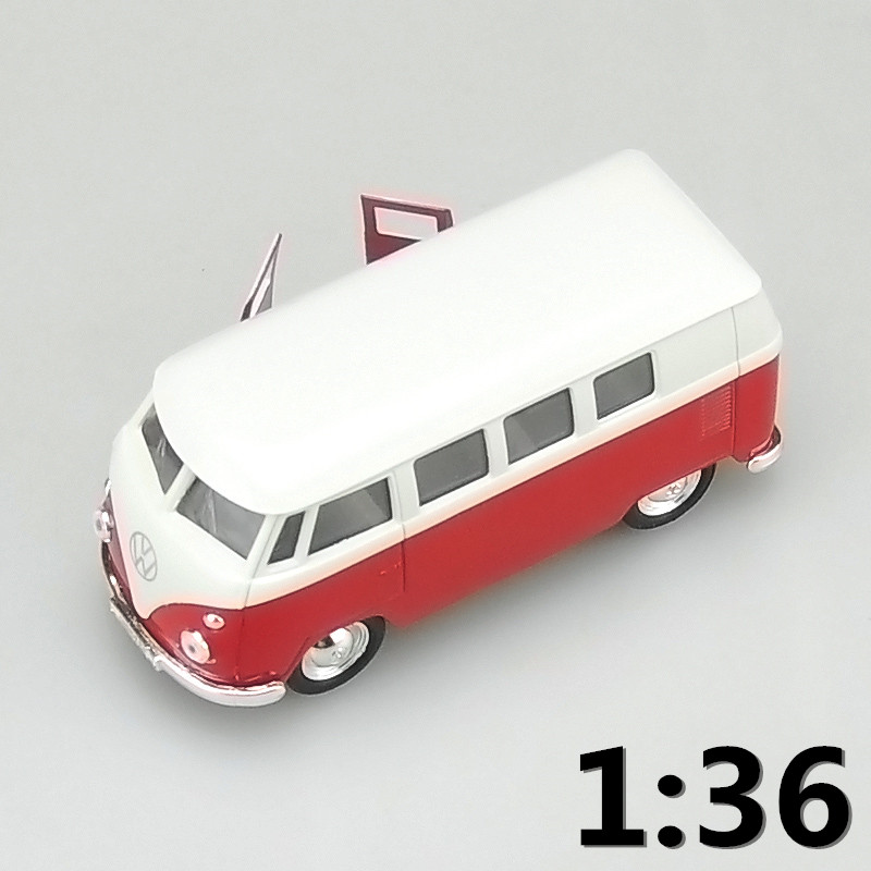 High simulation supercar,1:36 scale alloy pull back 1962 Volkswagen Bus T1 T2 cars,Collection metal model toys,free shipping(China)