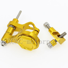FXCNC Aluminum Steering Damper Stabilizer Bracket Mounting Support Kits Fit For  YAHAMA YZF R6  2006-2015 YZF R1  2009-2012 Gold