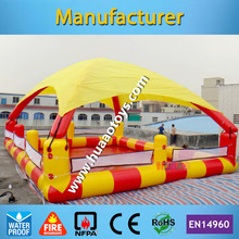 12*8m Square Inflatable Swimming Pool With Tent(Free air pump+repair kit)