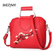 2017 New Women Handbag Pattern Fashion Woman Bags Embroidery Shoulder Brands Designer PU Leather Crossbody Bags Sac A Main