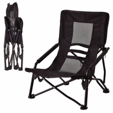 Goplus Outdoor High Back Folding Beach Chair Oxford Camping Furniture Portable Mesh Chair Black Seat Fishing Stool OP3079(China)