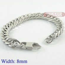 Gokadima 8mm width, Cool Clasp Mens Stainless Steel Chains Bracelets Link,  Fashion Jewelry, new arrivals, In Stock,WB004