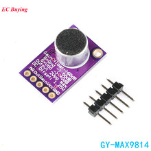 MAX9814 Electret Microphone Amplifier Board Module MIC Auto Gain Max 40dB/50dB/60dB Frequency 2.7V-5.5V With Pins For Arduino(China)