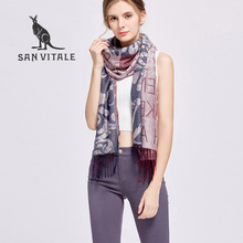 SAN VITALE Scarves for Women Shawls Capes Winter Warm Scarf Luxury Brand Soft Fashion Wraps Wool Cashmere Silk Cotton Bandana(China)