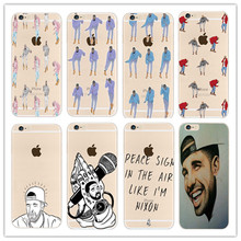 Drake Hotline bling Transparent plastic Case Cover For Apple iPhone 7 4 4S 5 5S 5C 6 6S 6 Plus  Phone Back Cover Free shipping