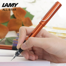 2017 New Design Original Lamy AL-Star Business Commercial Fountain Pen Copper Orange 0.5mm Nice Quality Ink Brand Pen