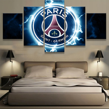 Canvas Modern Painting Living Room Wall Poster Frames In Modular Print 5 Panel Football Sport Club Cuadros Decoration Pictures